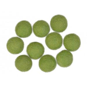Filtkulor 20mm Grön GN4 - 10 st.