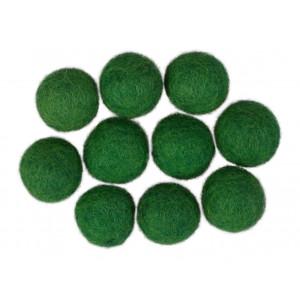 Filtkulor 20mm Mörkgrön GN10 - 10 st.