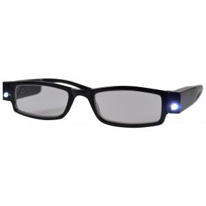 Glasögon Styrka +1 med LED ljus