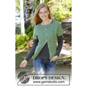 Green Luck Cardi by DROPS Design - Stickmönster väst str. S - XXXL