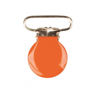 Hängselclips Rund Orange - 1 st.