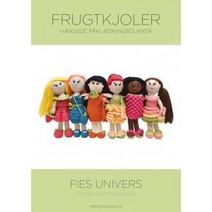 Hæklede påklædningsdukker - Fies univers - Frugtkjoler - Bog af Louise