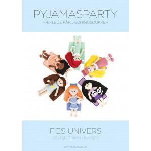Hæklede påklædningsdukker - Fies univers - Pyjamasparty - Bog af Louis