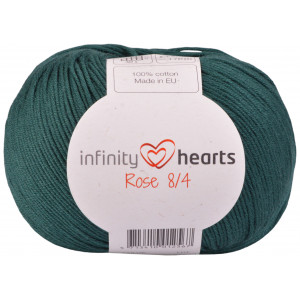 Infinity Hearts Rose 8/4 Garn Unicolor Petrol Grön
