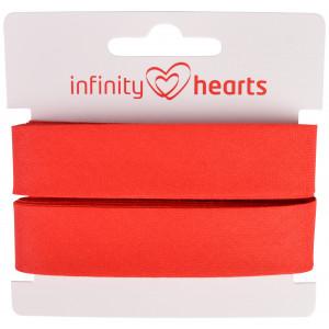 Infinity Hearts Snedslå/Kantband  Bomull 40/20mm 04 Röd - 5m