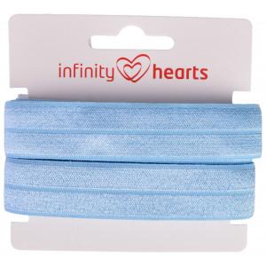Infinity Hearts Vikresår 20mm 311 Ljusblå - 5m