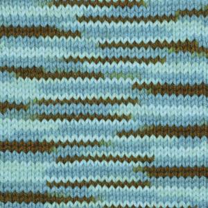 Järbo Soft Cotton Garn 8880 Turkos/Brun Print