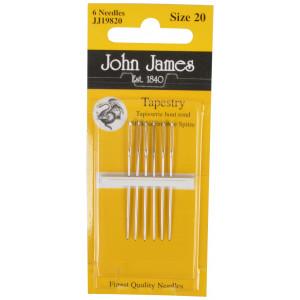 John James stramaljnålar trubbiga  strl. 20 - 6 st.