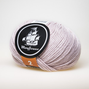 Mayflower Cotton 2 Garn Unicolor 253 Puder Rosa
