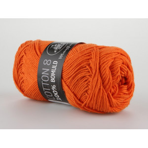 Mayflower Cotton 8/4 Garn Unicolor 1494 Mörk Orange