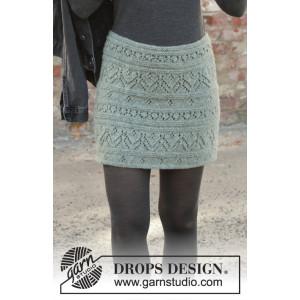 Mint Tulip by DROPS Design - Stickmönster nederdel str. S - XXXL