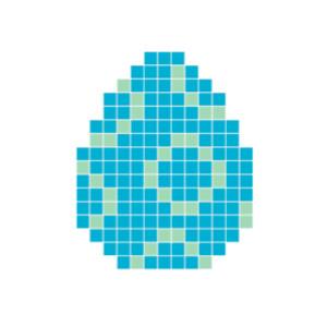 Påskägg Blå Pixelhobby - Påsk-pärlmönster