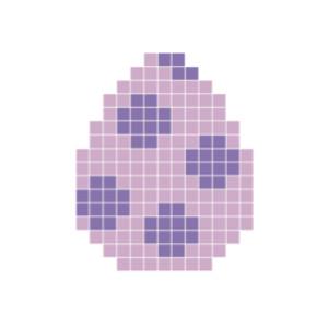 Påskägg Lila Pixelhobby - Påsk-pärlmönster