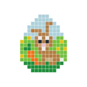 Påskhare Brun Pixelhobby - Påsk-pärlmönster
