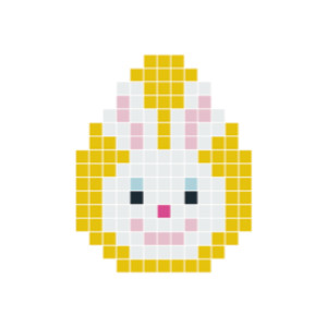 Påskhare Huvud Pixelhobby - Påsk-pärlmönster