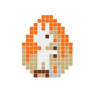 Påskhare Pixelhobby - Påsk-pärlmönster