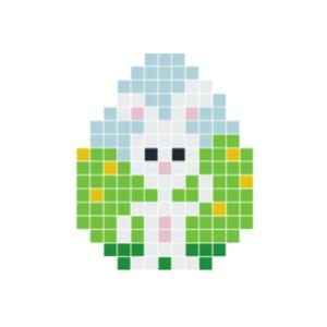 Påskhare Vit Pixelhobby - Påsk-pärlmönster