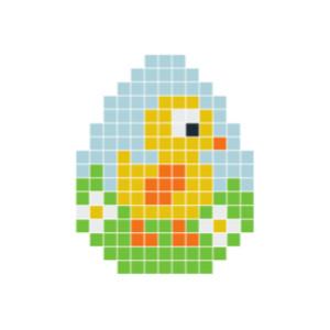 Påskkyckling Pixelhobby - Påsk-pärlmönster