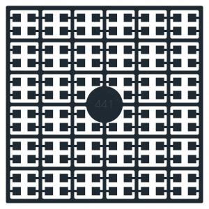 Pixelhobby Midi Pärlor 441 Svart 2x2mm - 144 pixels