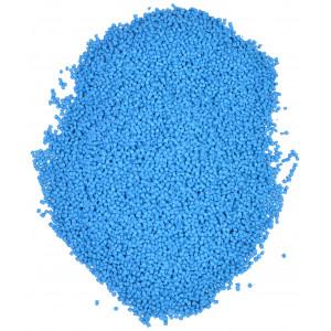 Plastkulor / Plastgranulat / Dockfyllning Blå 500 gr