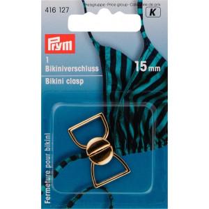 Prym Bikinispänne Metall Guld 15mm - 1 sätt