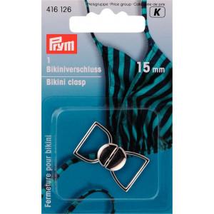 Prym Bikinispänne Metall Silver 15mm - 1 ätt