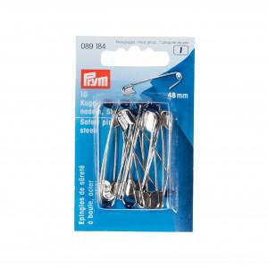 Prym Säkerhetsnålar med kula Stål Silver 48mm - 10 st
