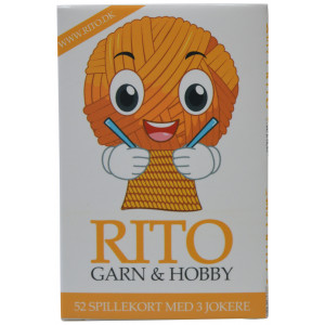Rito Spelkort 9x6 cm 52 kort + 3 Jokrar