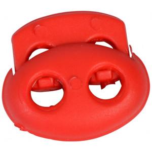 Snörstopp Dubbel Röd 4mm - 1 st.
