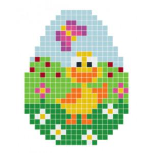 Stor Påskkyckling Pixelhobby - Påsk-pärlmönster