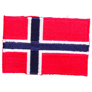Strykmärke Flagga Norge 9x6cm - 1 st.