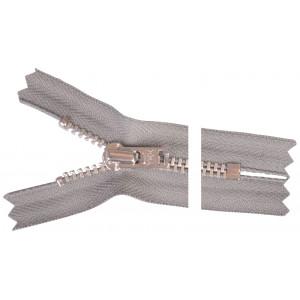 YKK Blixtlås Aluminium 10cm 4mm Grå