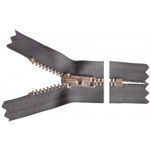 YKK Blixtlås Aluminium 10cm 4mm Mörkgrå