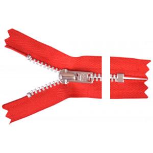 YKK Blixtlås Aluminium 10cm 4mm Röd